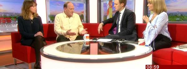 SHP client speaking on the BBC Breakfast show